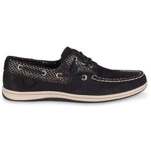 Sperry Song Fish Boat Shoe Black Snake